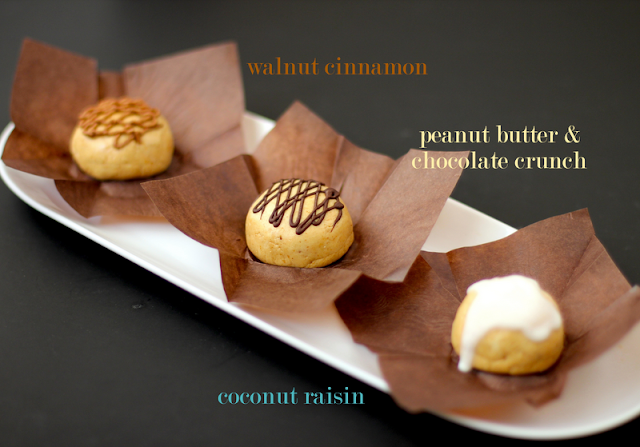 Healthy Peanut Butter Surprise Power Bonbons, made THREE ways! Rich, sweet, and uber fudgy, these peanut butter energy bites will fuel your day!