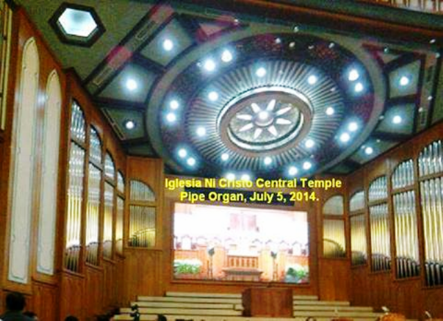 The Iglesia Ni Cristo Special Worship Service At Templo Central Where The New One Of A Kind Pipe Organ First Played
