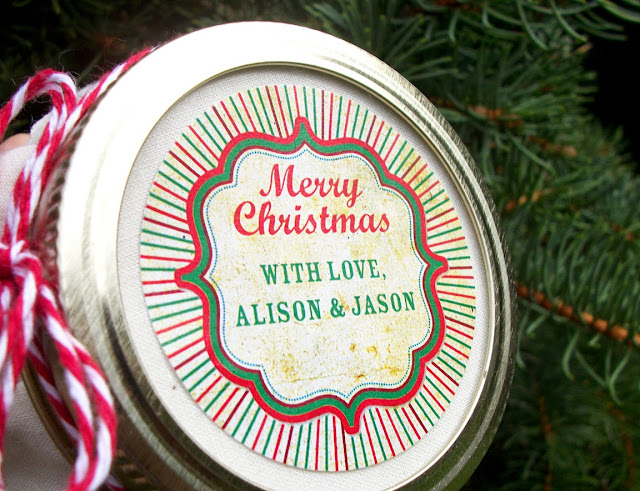 Christmas canning label