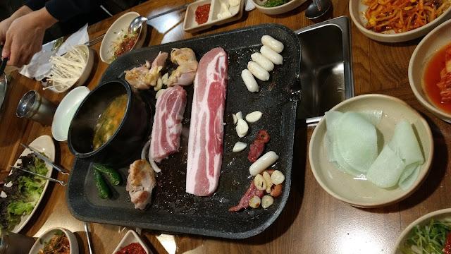 Samgyeopsal 삼겹살 korea south corée du sud nourriture bbq