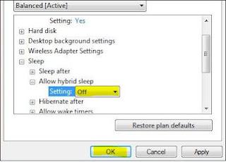 Hibernate Windows