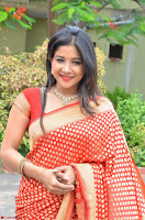 Sakshi Agarwal  in Orange Saree at Inauguration of Handloom And Handicraft exhibition ~  Exclusive 13.JPG