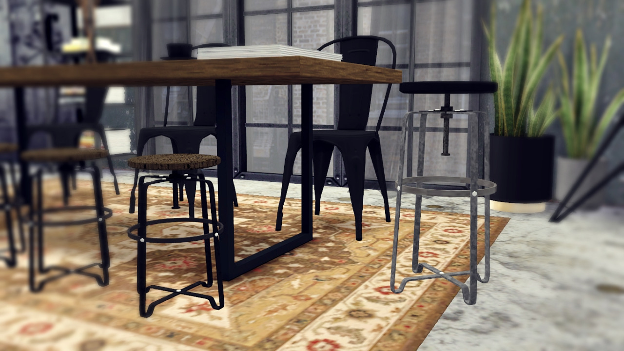 Industrial Dining Room Table My Sims 4 Blog Industrial Dining Room Set By Mxims