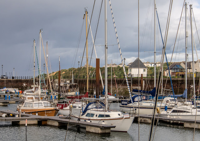Photo of clouds and sunny intervals at Maryport Marina today (Friday)