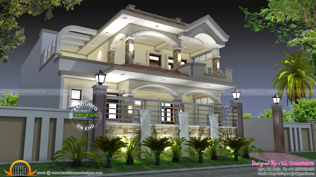 35x70 india house plan kerala home design and floor plans for Architecture design small house india