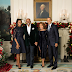 Woa Checkout This Powerful Black Couples! The Obamas and Harveys at White House Christmas Party