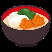 白味噌のお雑煮のイラスト