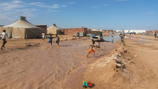 Heavy rain leaves families without shelter in refugee camps