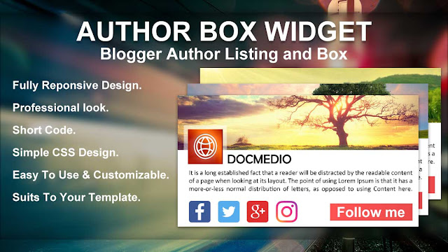How To Add Professional Author Box In Blogger Below Every post