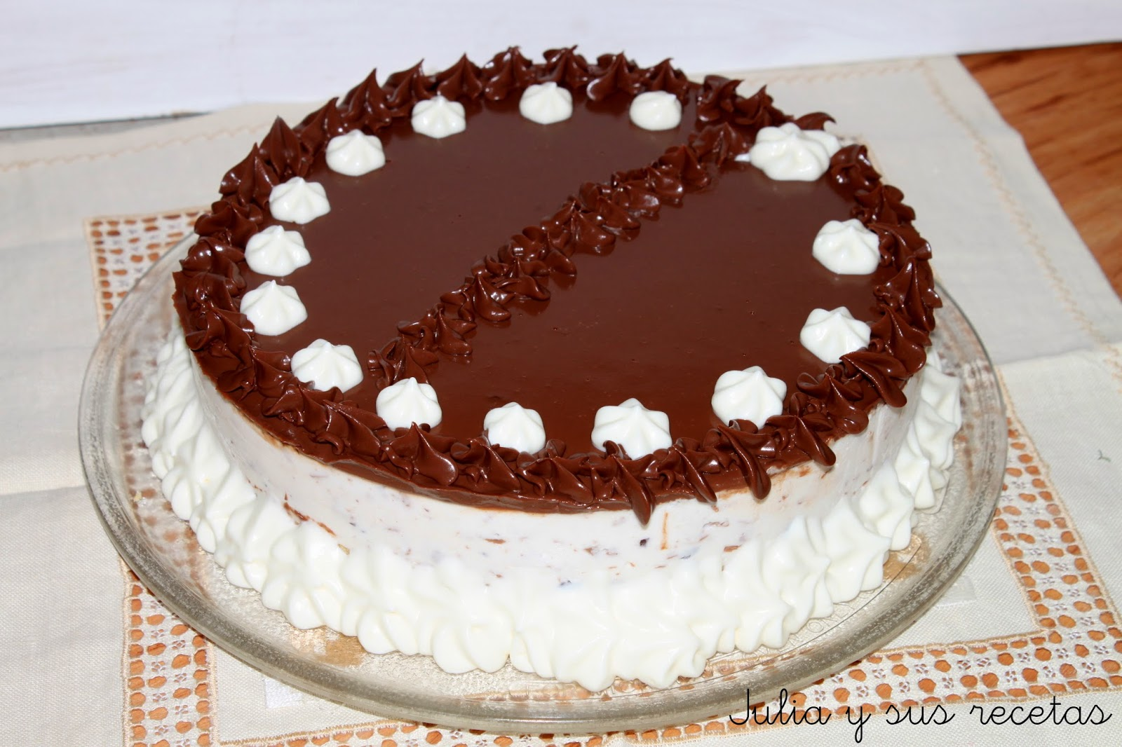 Tarta mousse de stracciatella. Julia y sus recetas