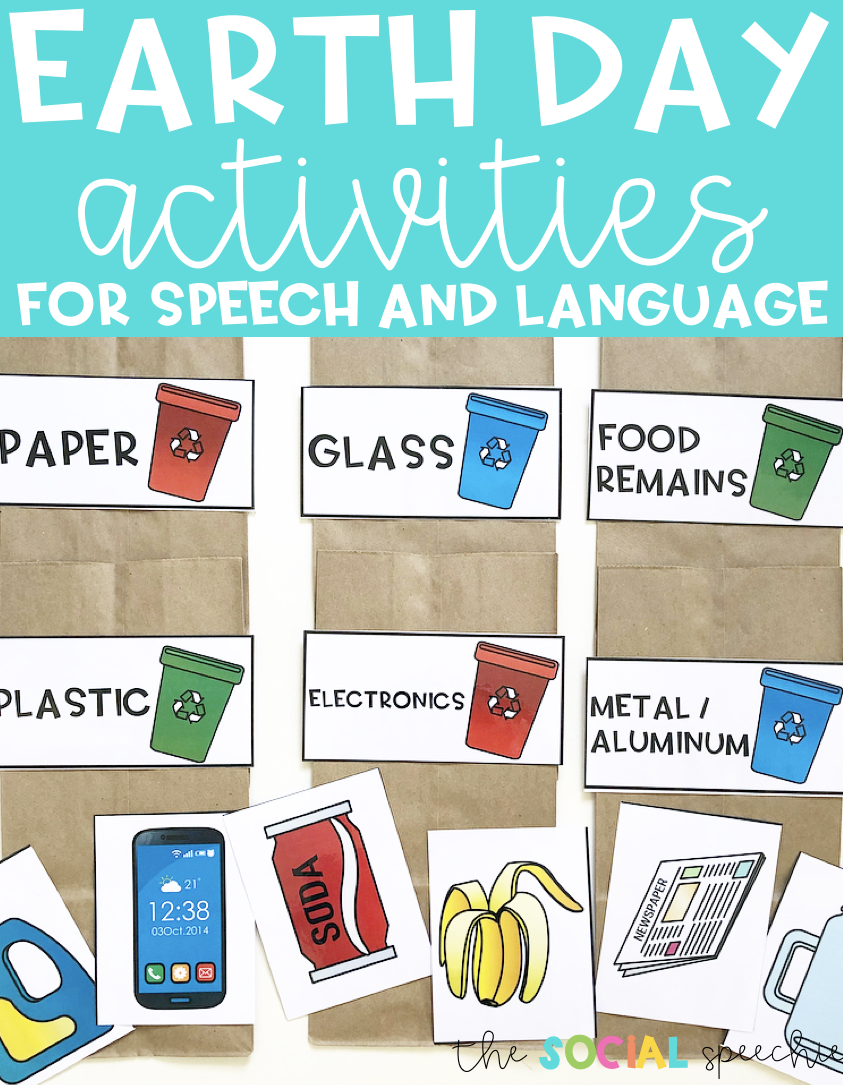 earth day activities for speech and language the social speechie