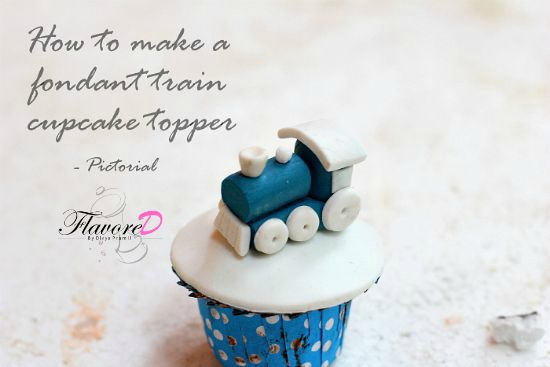 How To Make A Fondant Train Stepwise Pictorial Cupcake Topper Tutorial
