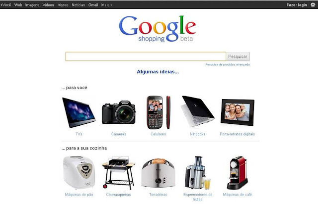 Tela Google Shopping