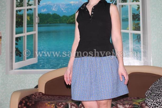 72c3ccda3a0 Шьем юбку на резинке из прямоугольника за полчаса
