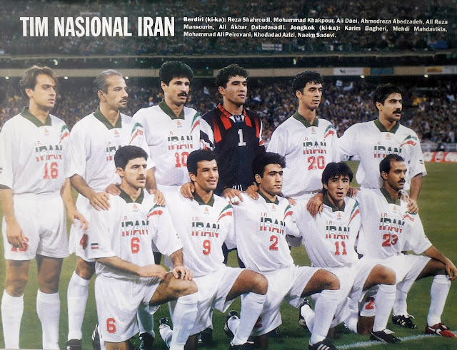 PIN UP TIM NASIONAL IRAN 1998