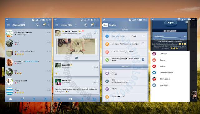 download BBM Mod Thema IOS Terbaru Versi 2.12.0.9 With Switch Maintab