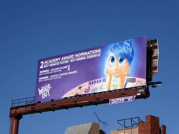 Inside Out Oscar nominee billboard