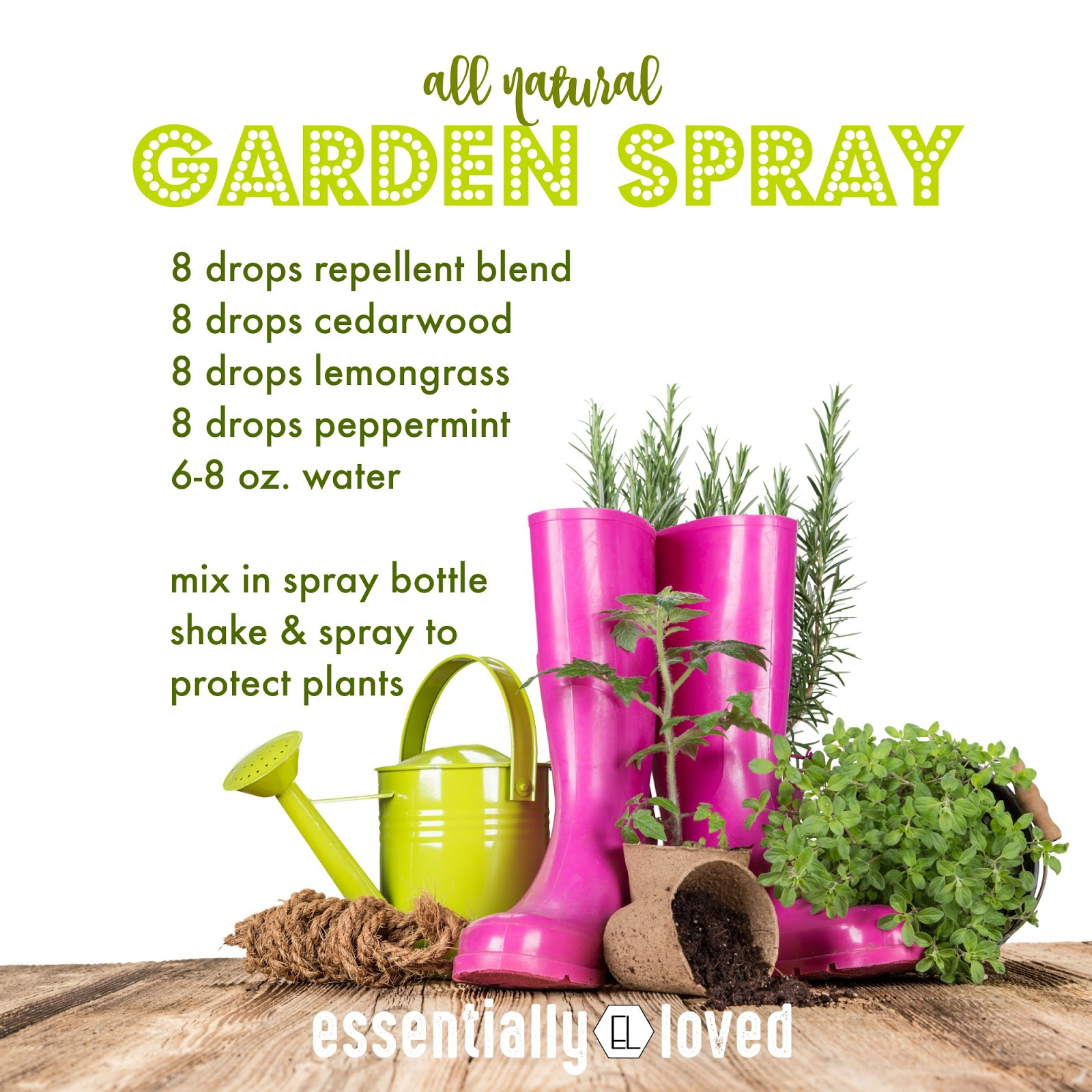 Sublime Living Diy Essential Oil Recipe For The Garden Natural