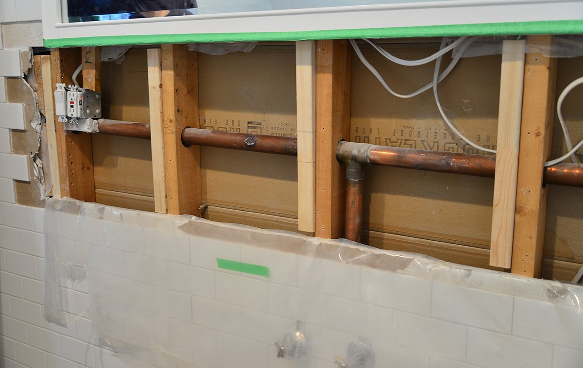 diy bathroom renovation, do it yourself bathroom, bathroom before and after, sistered joist