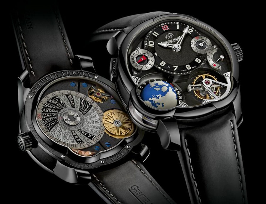Reloj GTM Platinum Black Dial
