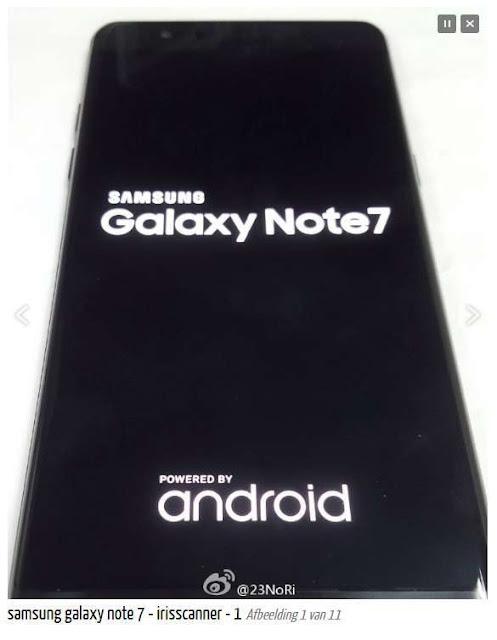 Bocoran foto Samsung Galaxy Note 7 mengkonfirmasikan fitur Iris Scanner