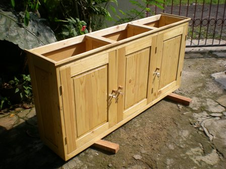 Perabot Kayu Sederhana Simply Wood Furniture Lemari Dinding Wall Cabinet