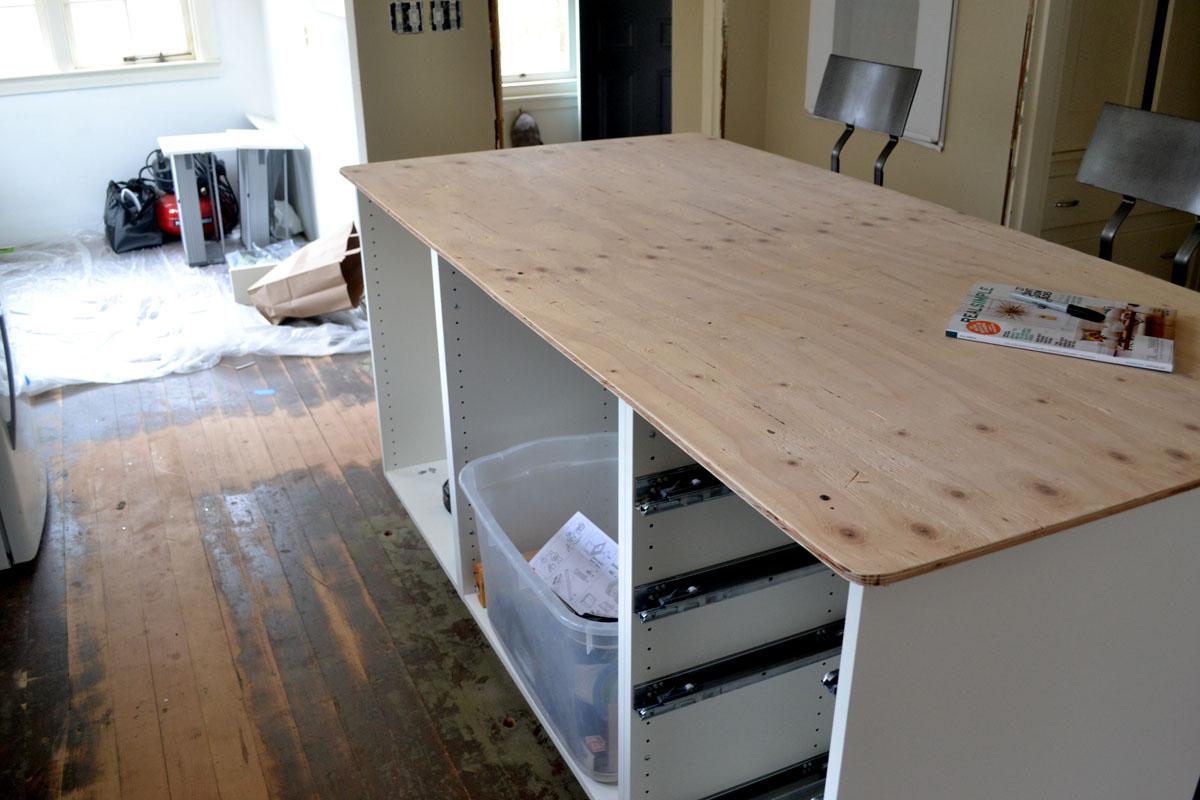 renovate kitchen update sinks and install kitchen island Kitchen Island