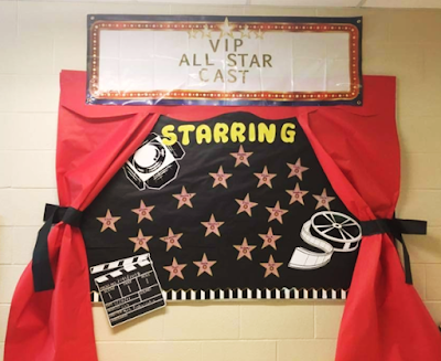 Hollywood Classroom theme bulletin board