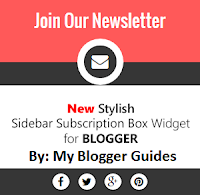 Stylish Subscription Box Widget For Blogger