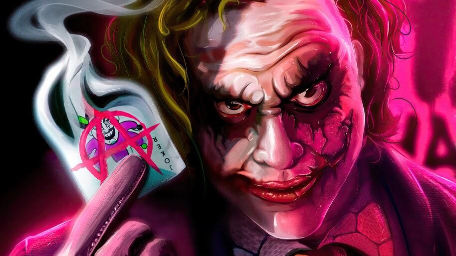 Joker, Card, Heath Ledger, Comics, Art, 4K, #6.2099