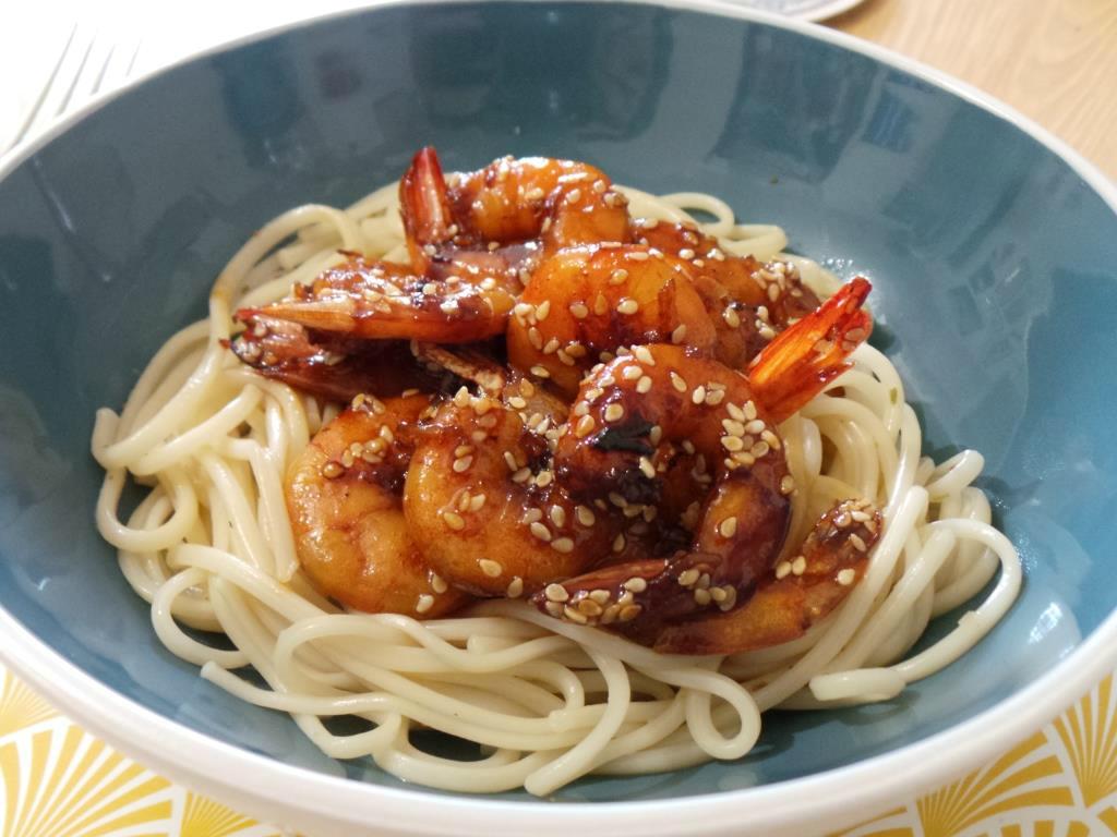 La cuisine du dimanche 19 crevettes marin es au miel et for Apprendre la cuisine asiatique