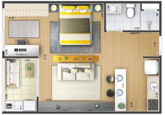 20 inspirasi menata interior dan perabot pada mungil minimalis