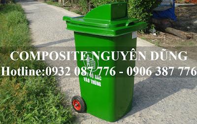 bán thùng rác công cộng loại 120l