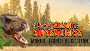 Circo Gigante de dinosaurios en Bogotá