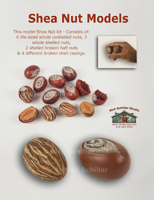 Artificial fake shea nuts
