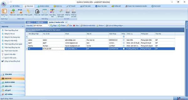 Phần mềm quản lý tòa nhà giúp GP.Invest quản lý nhân viên dễ dàng