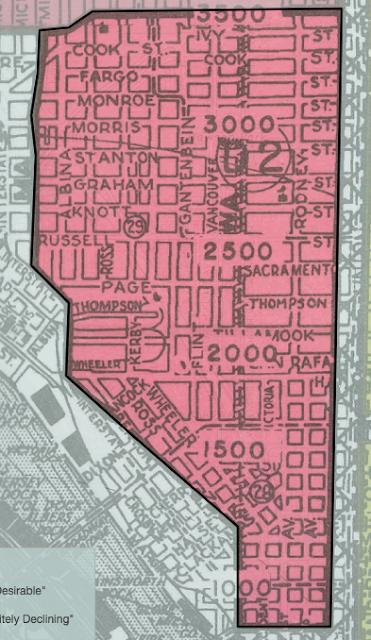 old neighborhood map