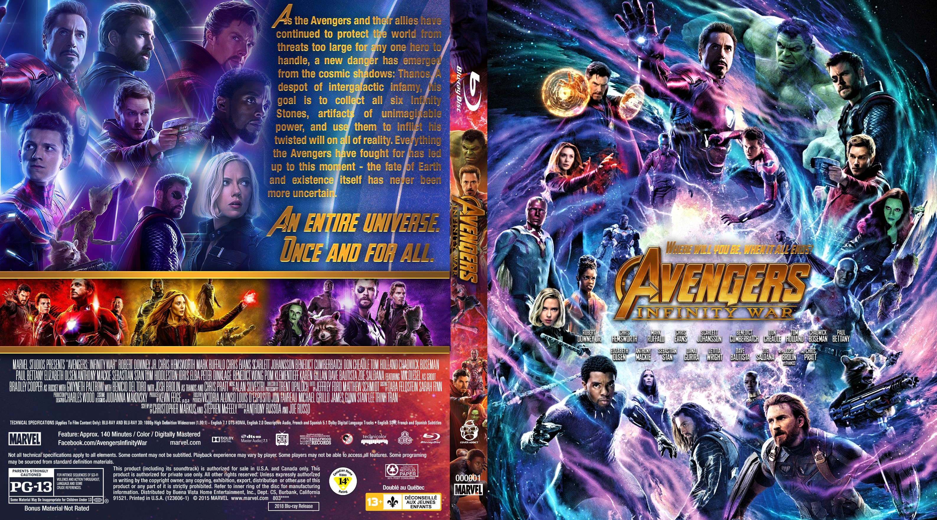 300 Full Movie >> Avengers: Infinity War Bluray Cover - Cover Addict - DVD ...