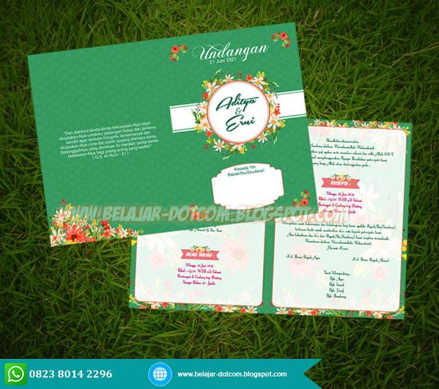 Tutorial Membuat Desain Undangan Vintage di CorelDRAW, undangan keren, download undangan gratis, undangan flower, cara desain undangan keren