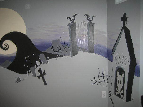 Artspace The Nightmare Before Christmas Mural