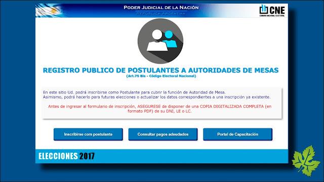 CNE. Cámara Nacional Electoral
