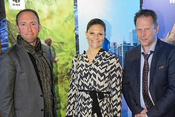 Crown Princess Victoria of Sweden attended the World Wide Fund (WWF) for Nature's autumn meeting held at the Ulriksdal in Stockholm