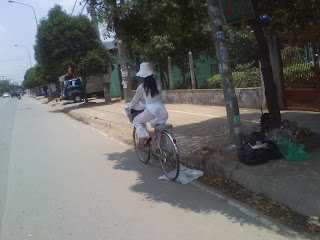 Transport de vélos au Vietnam