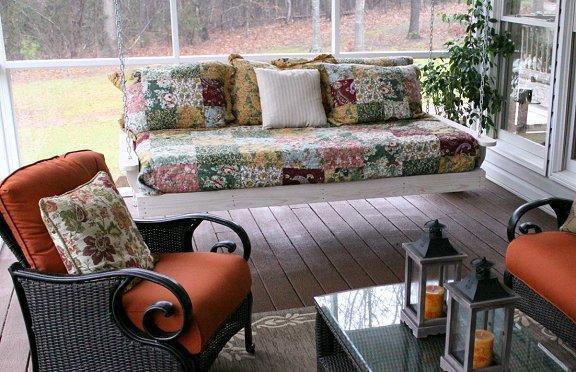 swings for living room dishfunctional designs this aint yer grandmas porch swing diy