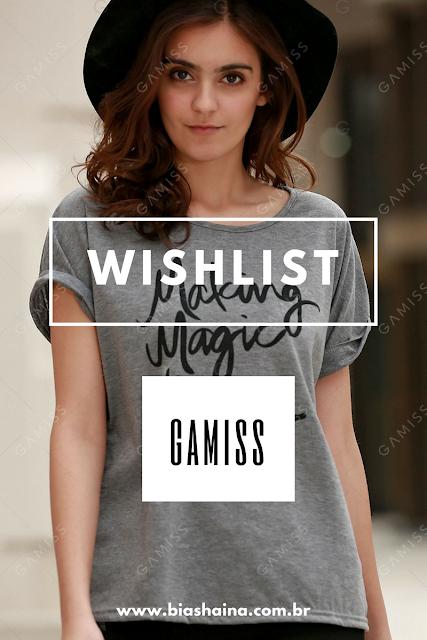 Wishlist Loja Gamiss