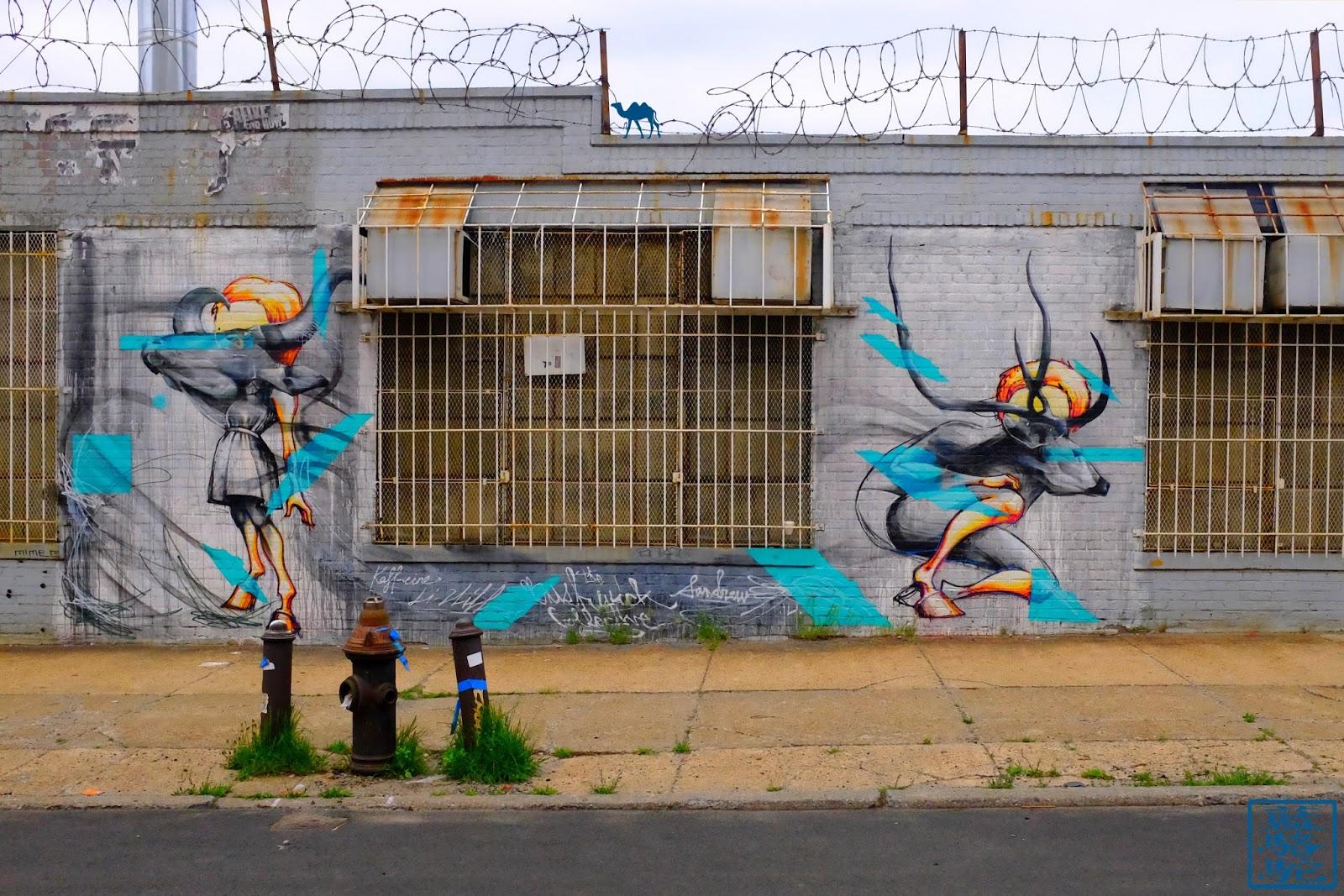 Le Chameau Bleu - Minautaures - Bushwick - Street Art - Brooklyn