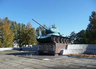 Межевая. Воинский мемориал. Танк Т-34-85