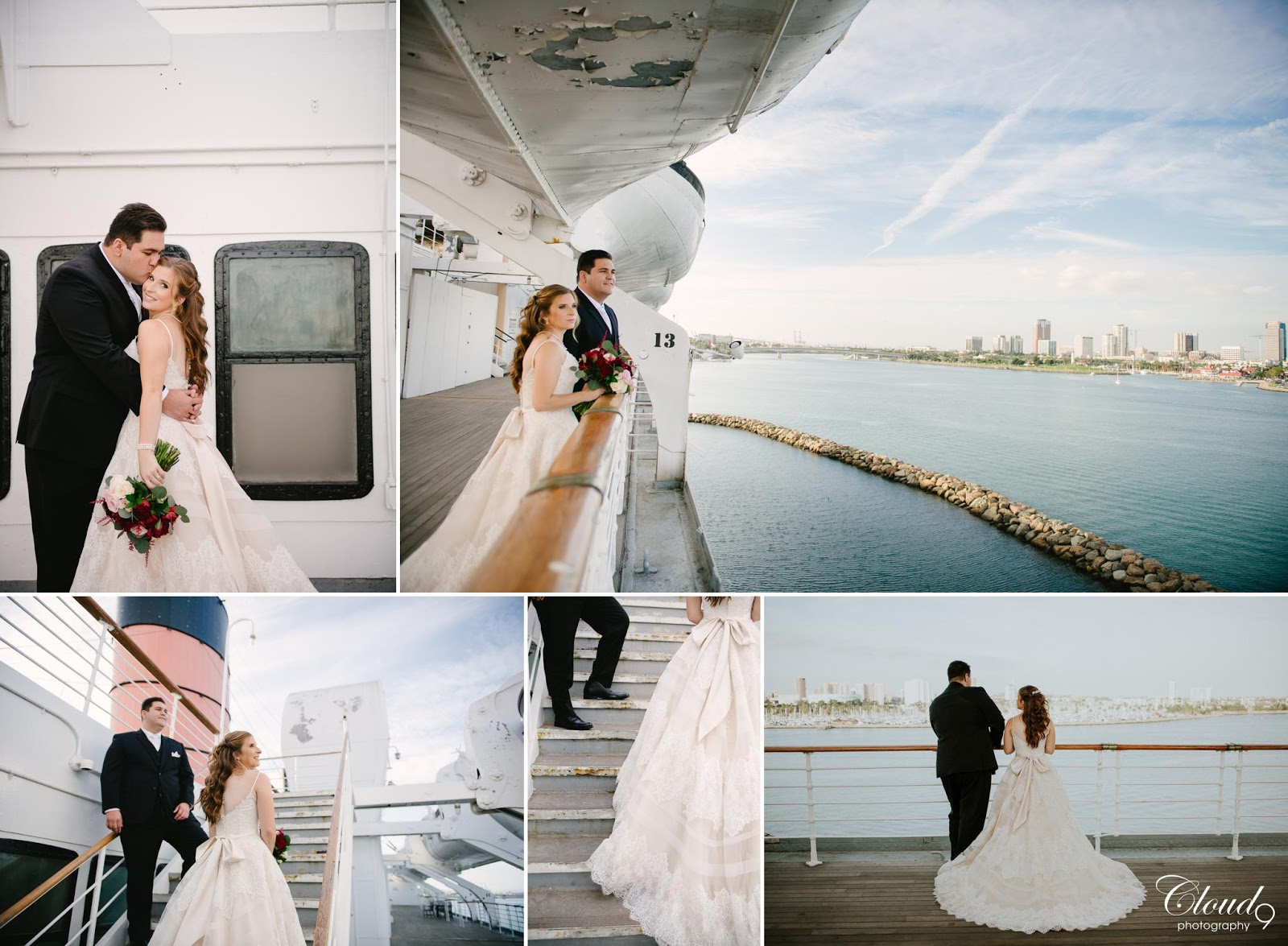 Cloud 9 Photography Long Beach Queen Mary Wedding Photos Portraits Brea Orange County Photographer Www