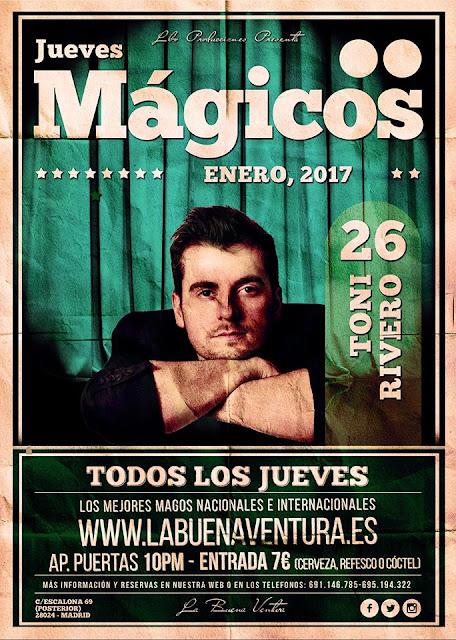 Mago Toni Rivero en Madrid