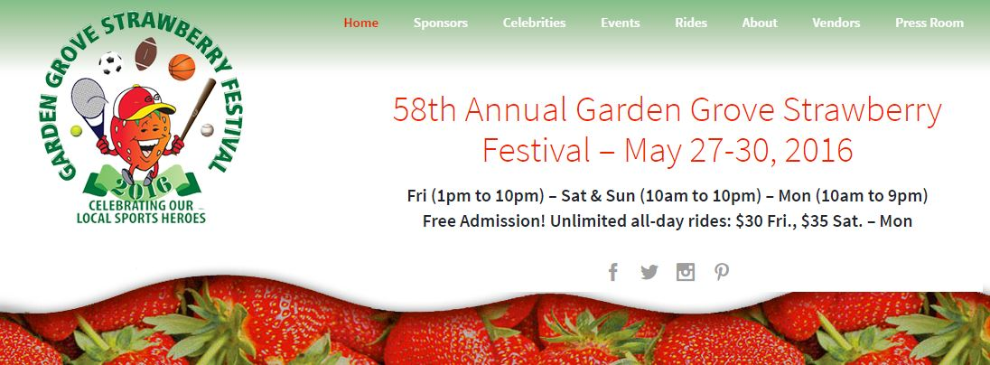 TIME TO DEVOUR STRAWBERRIES THIS MEMORIAL WEEKEND! @ THE STRAWBERRY FESTIVAL - GARDEN GROVE